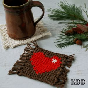 Mug Rug Pattern Series {Part 1} - Heart