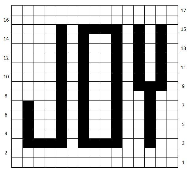 JOY Mug Rug Free Crochet Pattern - KatieBugDesign