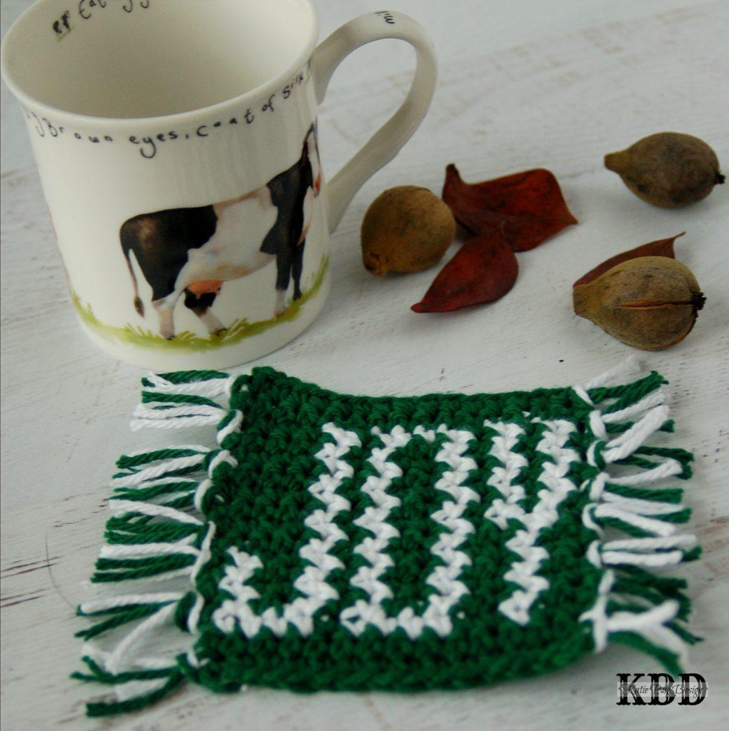 JOY Mug Rug Free Crochet Pattern