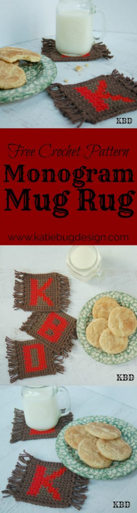 This Monogram Mug Rug design makes a great gift!