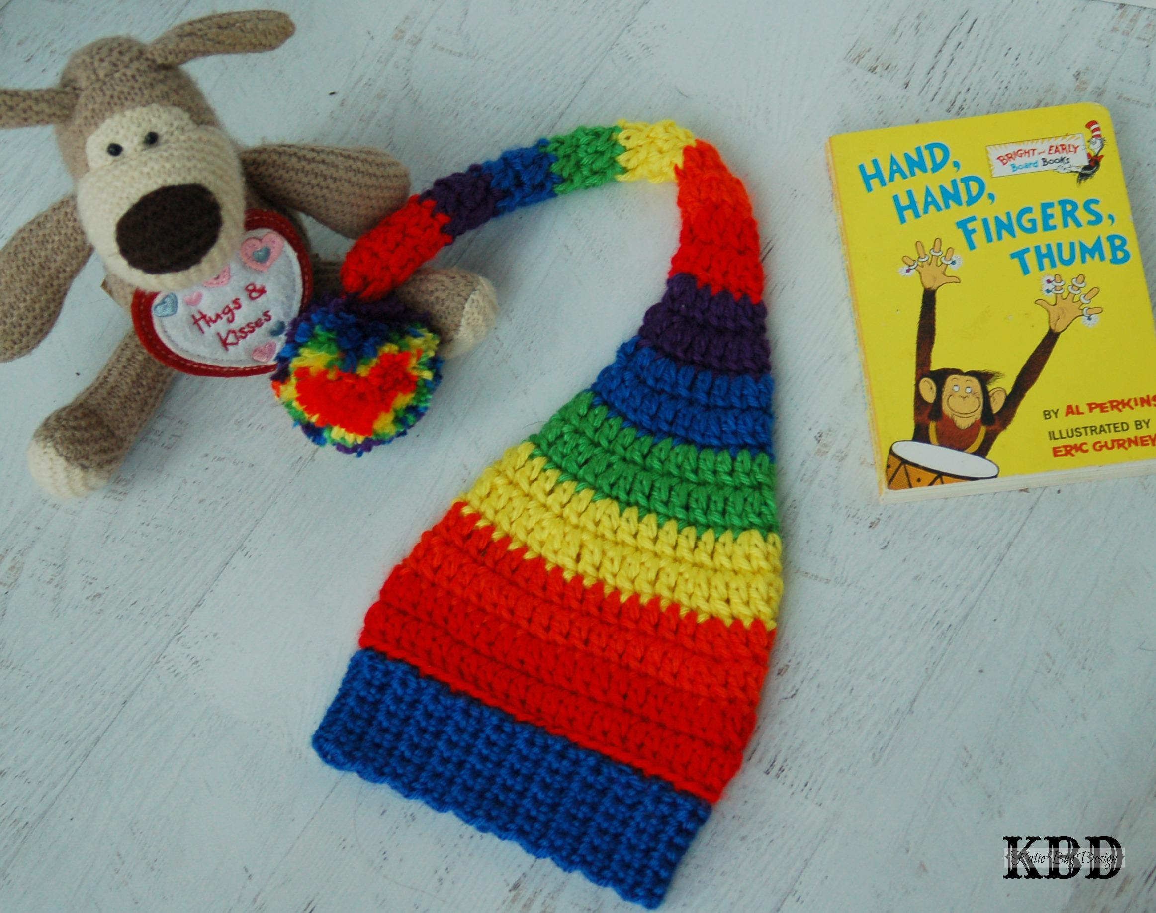 Rainbow Baby Crochet Hat - Katie Bug Design 874616b58c7
